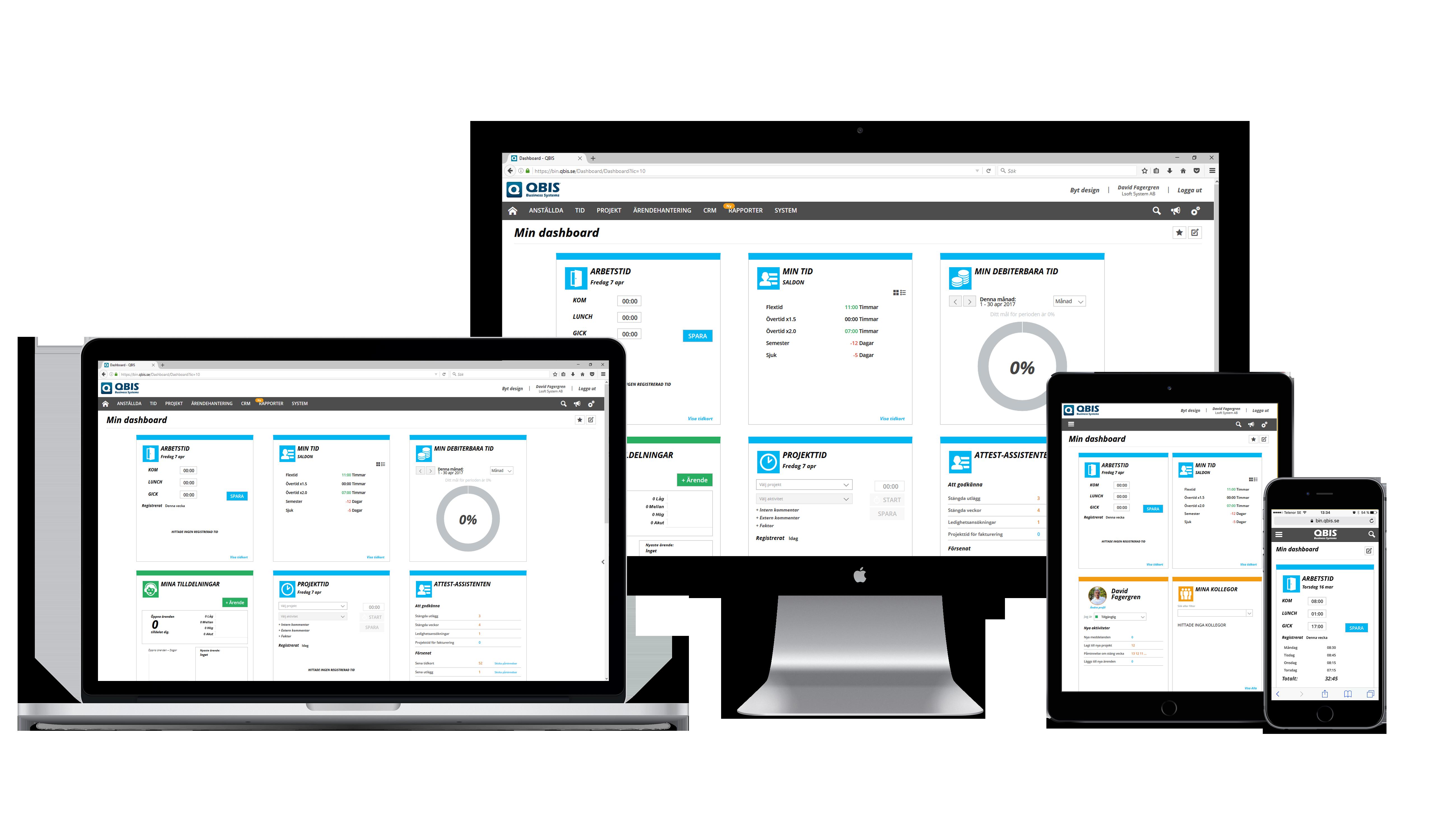 QBIS visas på laptop, dator, surfplatta och smartphone
